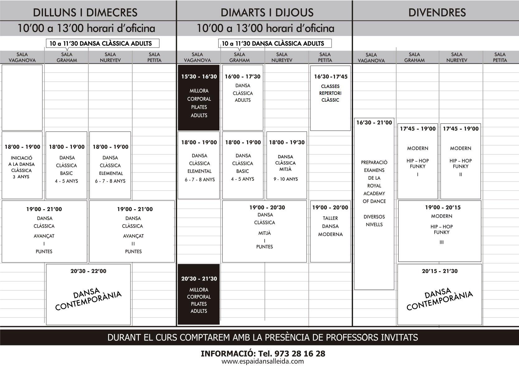 horaris setmanals
